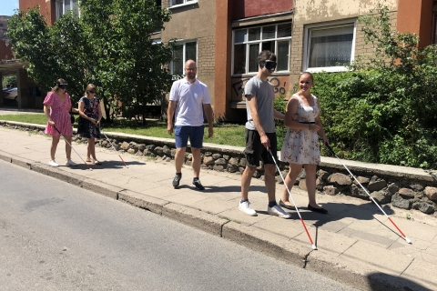 Pasivaikščiojimas nematant Vilniaus senamiesčiu