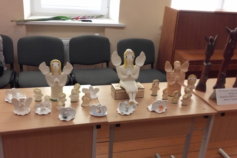 Keramikos būrelio darbų paroda