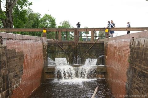 Gardinas, Augustavo kanalo šliuzas